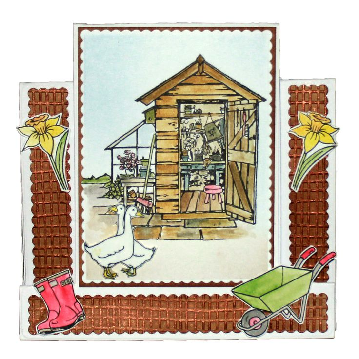 This is the Gorgeous new The Allotment designed by Sharon Bennett for Hobby Art. Clear set contains 17 clear stamps as seen on Create & Craft. This Gorgeous Card was made by Carol Cockbain
