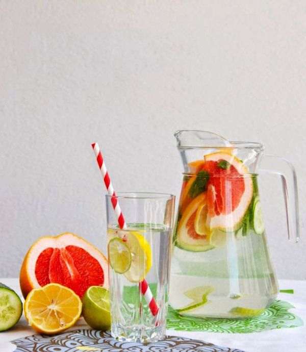 Cucumber citrus: http://www.stylemepretty.com/living/2014/08/05/20-infused-water-recipes/