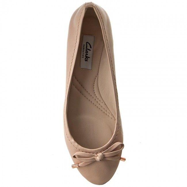 Baleríny CLARKS - Grace Lily 261230534 Nude Pink Lea