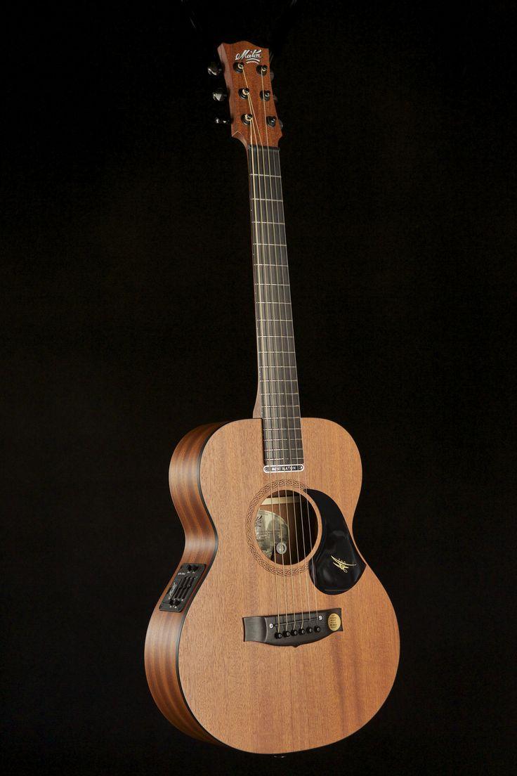 Australian, Handmade, Acoustic Mahogany Mini from Maton Guitars. Front View.
