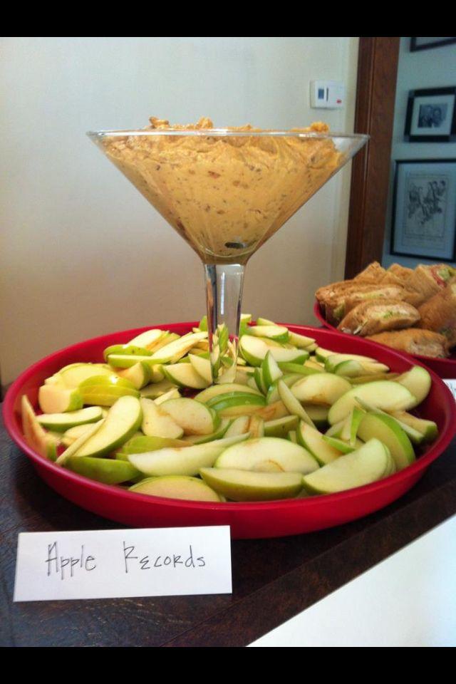 "Beatles theme party food ideas ""apple records"" dip"