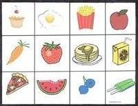 Free printable toddler lotto games - différents loto / memory à imprimer (animaux, aliments...)