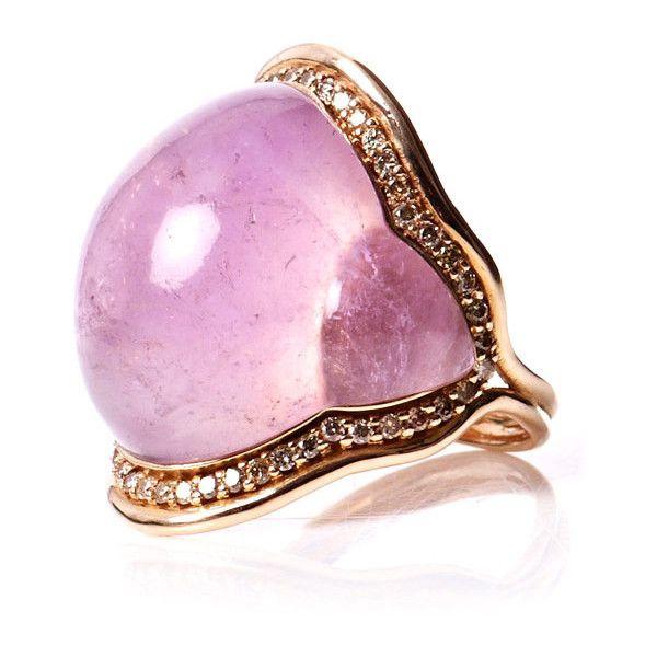 Fernando Jorge Amethyst, brown diamond & gold ring found on Polyvore