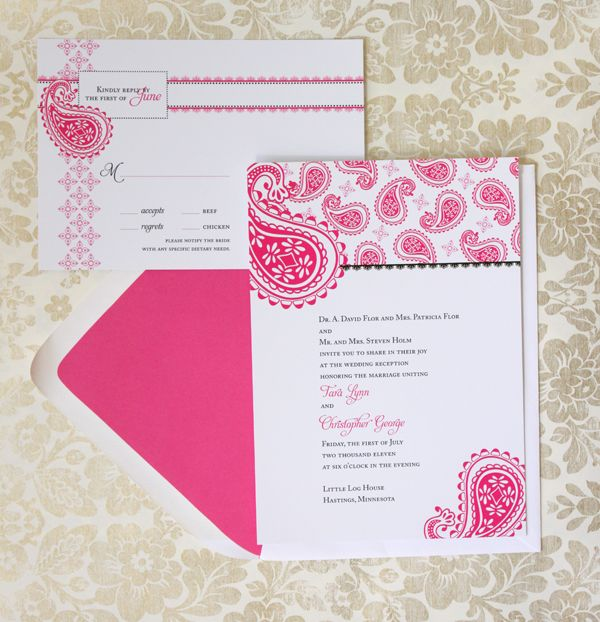71 best wedding invite images on pinterest wedding stationery good option for a more modern invite but still with an indian touch stopboris Images