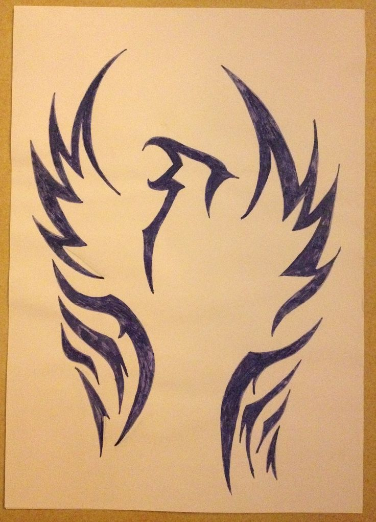 Tribal drawing ~ phœnix, bird -Coline210
