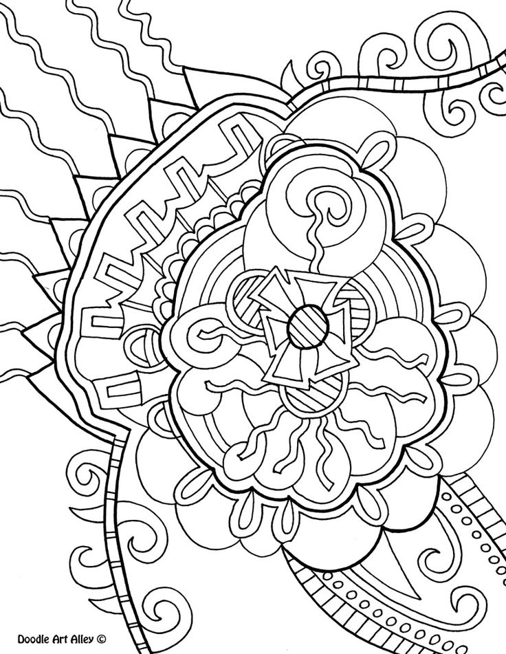 abstract doodle coloring pages - photo#10