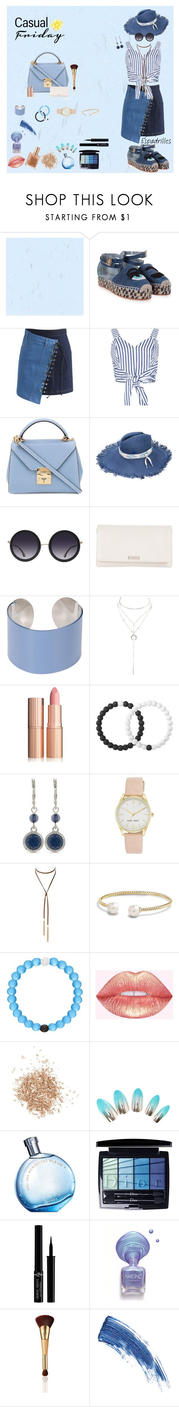"""""""Blue Friday"""" by alli-crow ❤ liked on Polyvore featuring Chiara Ferragni, Chicwish, WithChic, Mark Cross, Maison Michel, Alice + Olivia, Kate Spade, Maison Margiela, Charlotte Russe and Lokai"""