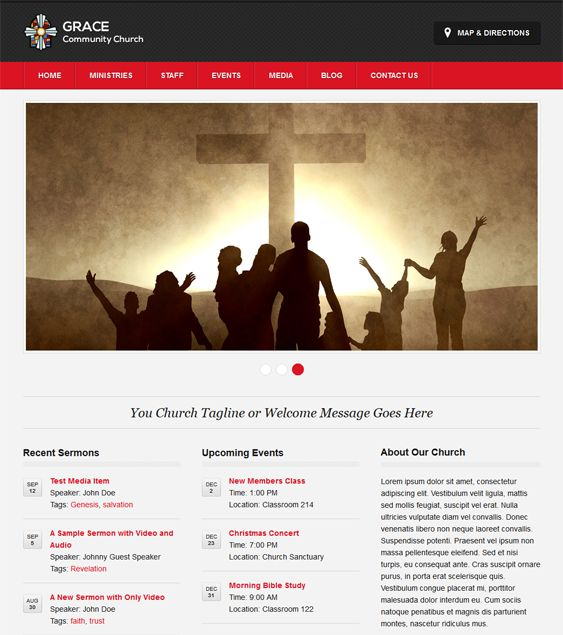 18 best 18 more of the best free premium church wordpress themes this free church wordpress theme comes with 4 predefined color schemes a responsive layout pronofoot35fo Gallery