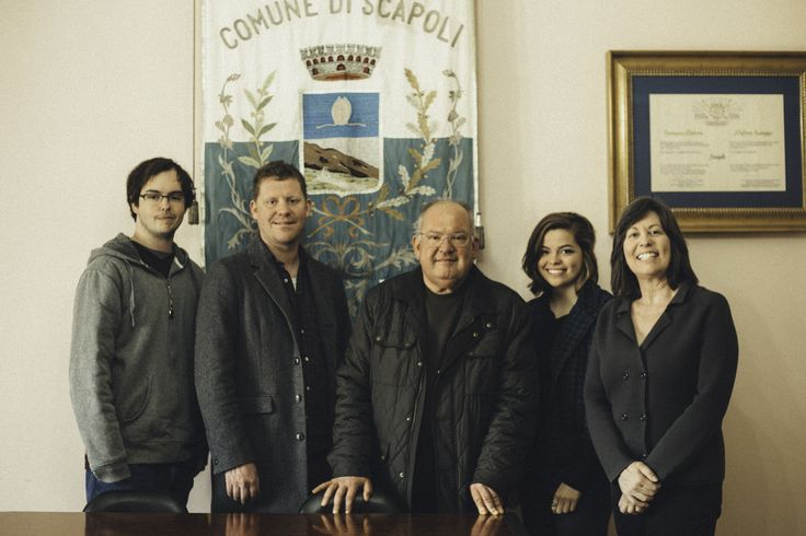 """The Rivera Family applying for citizenship in Scapoli (Isernia)! ===== """"Left to Right: My Brother, Steve, my Cousin Rich, Mayor of Scapoli, me, my Mom Lynn Officially declared citizenship on January 9, 2014"""""""