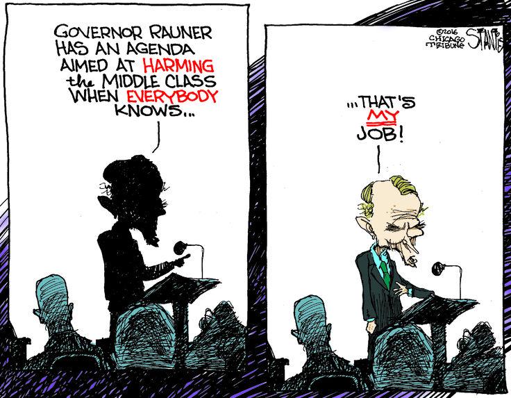 Cartoon: Who's the true guardian of the middle class, Michael Madigan or Bruce Rauner? - http://www.rebootillinois.com/2016/04/13/editors-picks/sstantis/cartoon-whos-the-true-guardian-of-the-middle-class-michael-madigan-or-bruce-rauner/56112/