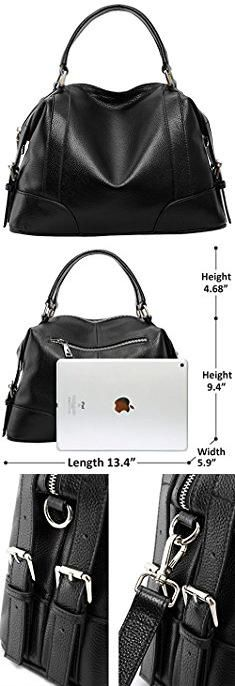 Designer Handbags For Less. Iswee Leather Women Handbags and Purses Tote Shoulder Bag Fashion Top Handle for Ladies and Girls (Black-X).  #designer #handbags #for #less #designerhandbags #handbagsfor #forless