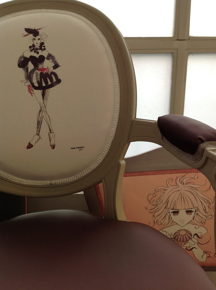 """the Drawing Room Chair at """"Meet My Project"""", Milan Fuorisalone 2012. Detail of Burfitt and Ekstrom illustrations."""