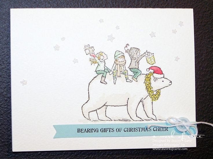 2014 Stampin' Up Holiday Catalog: Bearing Gifts Stamp #stampinup #aworkofcarte