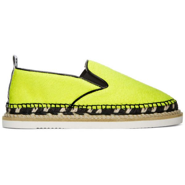 Kenzo Yellow Kasual Espadrilles ($270) ❤ liked on Polyvore featuring shoes, sandals, yellow, espadrille sandals, leather shoes, kenzo shoes, woven sandals and woven elastic shoes