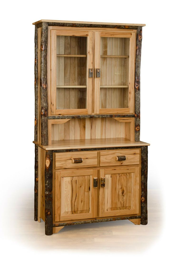 Rustic Hickory 2 Door Buffet And Hutch / China Cabinet   Available In All  Hickory,. Hickory FurnitureAmish ...