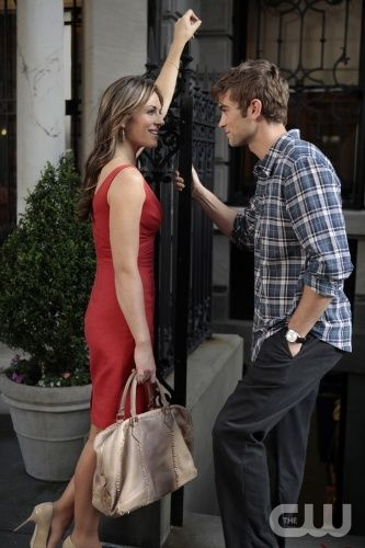 """""""Beauty and The Feast"""" -- Elizabeth Hurley as Diana Payne and Chace Crawford as Nate Archibald in Gossip Girl on the CW. Photo Credit: Giovanni Rufino / The CW © 2011 The CW Network, LLC. All Rights Reserved."""