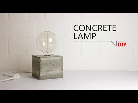 DIY - Lampe aus Beton // FREE TEMPLATE - YouTube