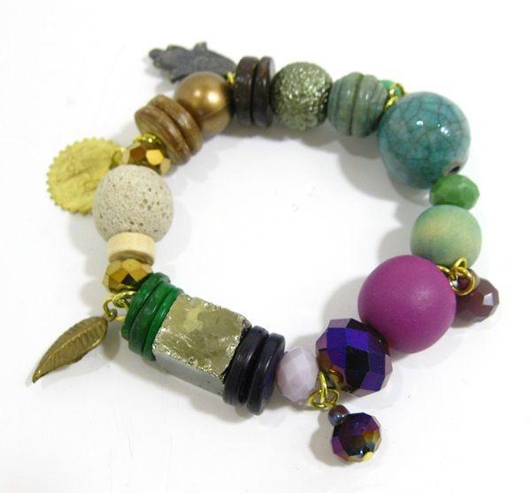Lily Tribal Charm Bracelet