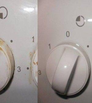 zsírlerakódás eltávolítás a tűzhely fogantyújáról vegyszer nélkül