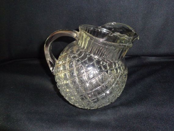 Waterford Waffle Tilt Pitcher c1940 Anchor Hocking by MemmoryAlley, $29.00