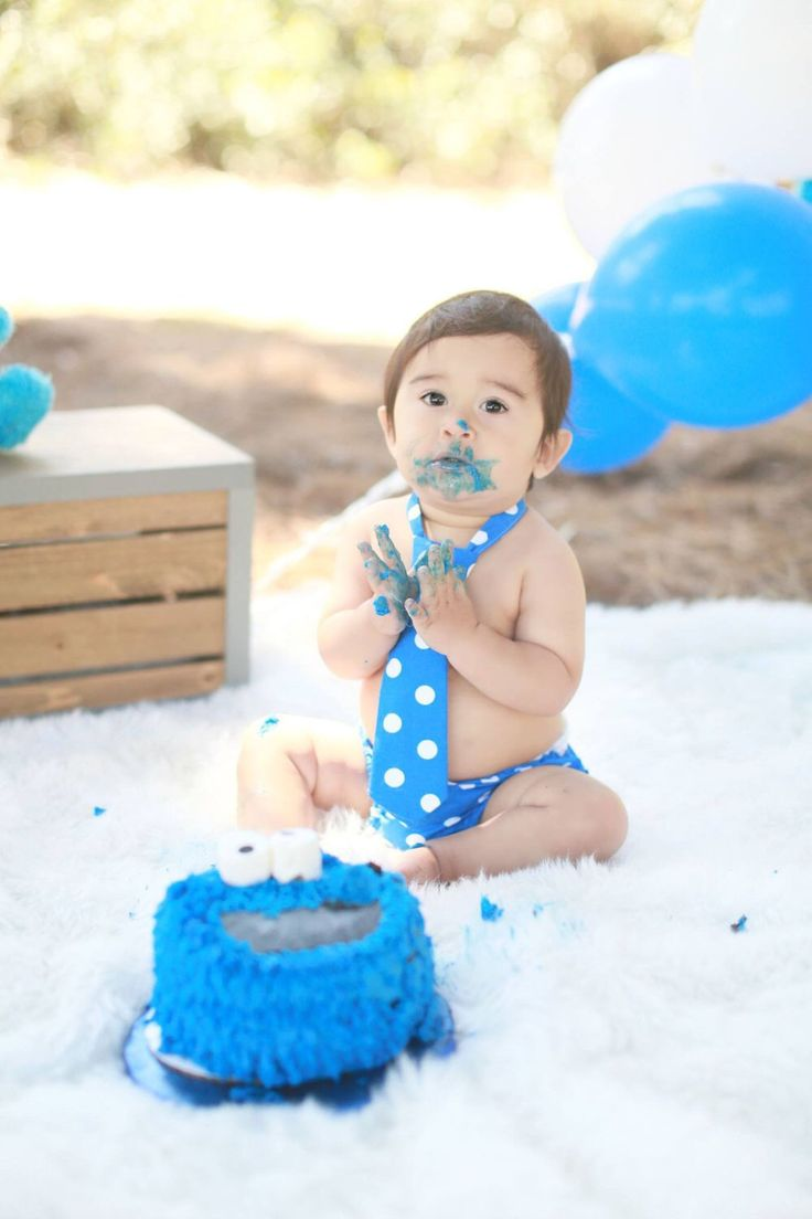 Cookie monster 1st birthday, cookie monster party, boys 1st birthday clothes, boys smash cake outfit, blue 1st birthday, baby birthday by ShopLilSquirts on Etsy https://www.etsy.com/listing/232392221/cookie-monster-1st-birthday-cookie