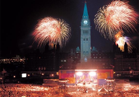 Canada Day on Parliament Hill , Ottawa Canada