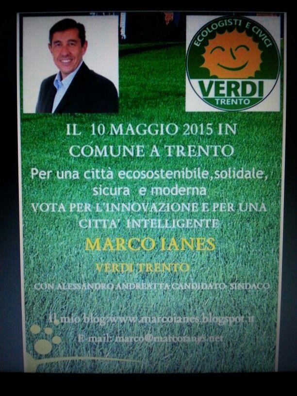 10 maggio a Trento un voto a Marco Ianes Verdi