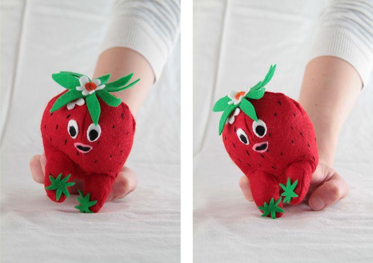 dancing strawberry