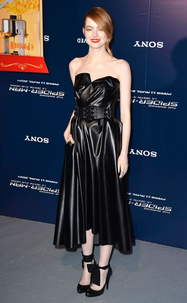 Emma Stone in Lanvin  at the Paris premiere of The Amazing Spider-Man 2