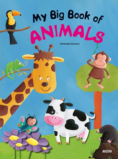 Have fun while learning the names of dozens of animals!  Children will learn the names and learn to recognize more than sixty adorable animals. With touch-and-feel elements, flaps, and many more surprises, this book will amaze all young readers.