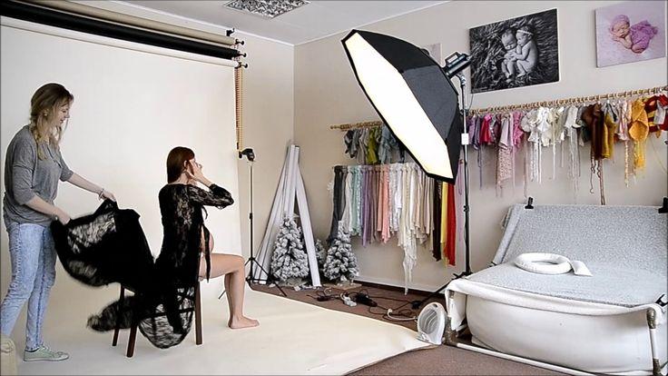 Sesja z brzuszkiem w studio cała - fotografia ciążowa - Iwona Pajewska F...