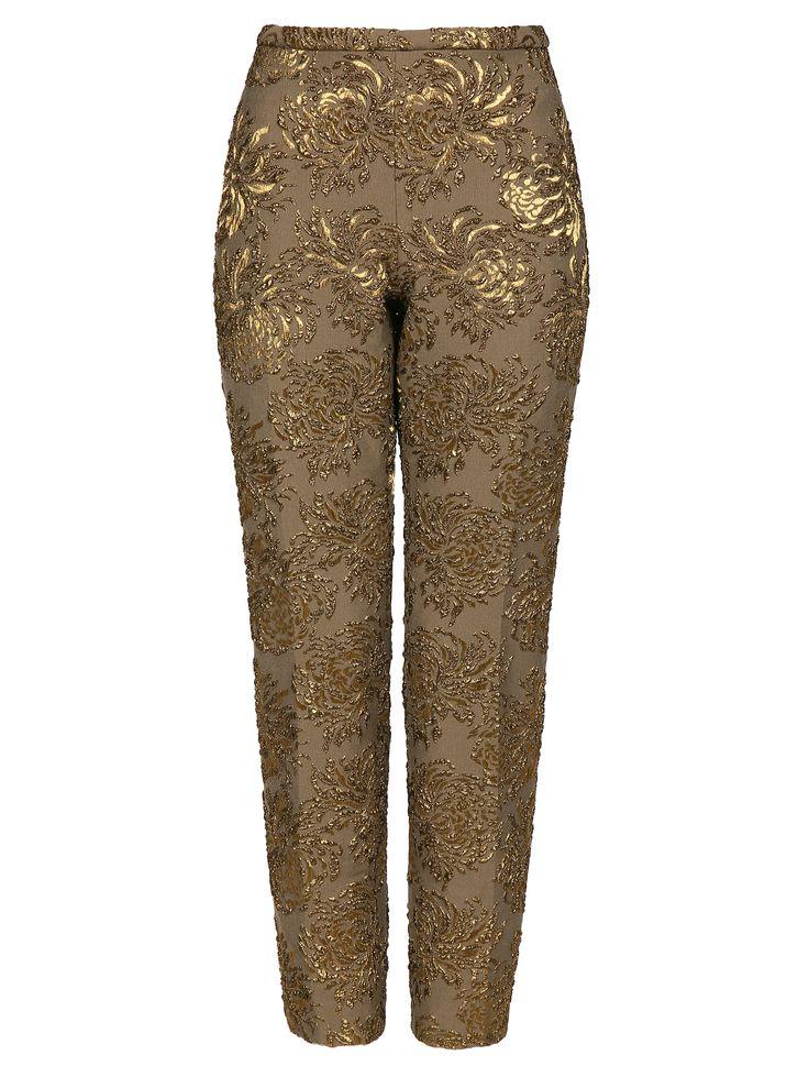 Купить со скидкой Rochas коричневые брюки с золотой вышивкой (46374) – распродажа в Боско Аутлет