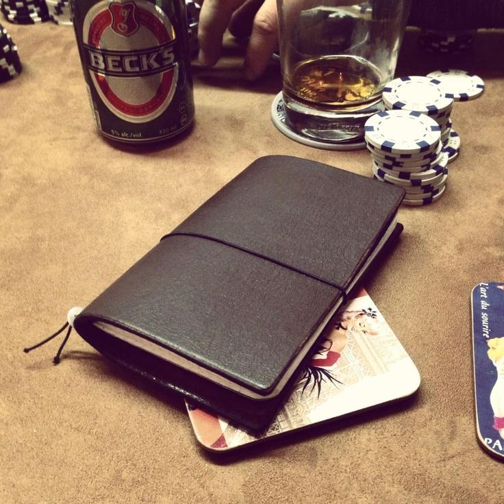 Moose hide traveller's notebook cover by Vormu