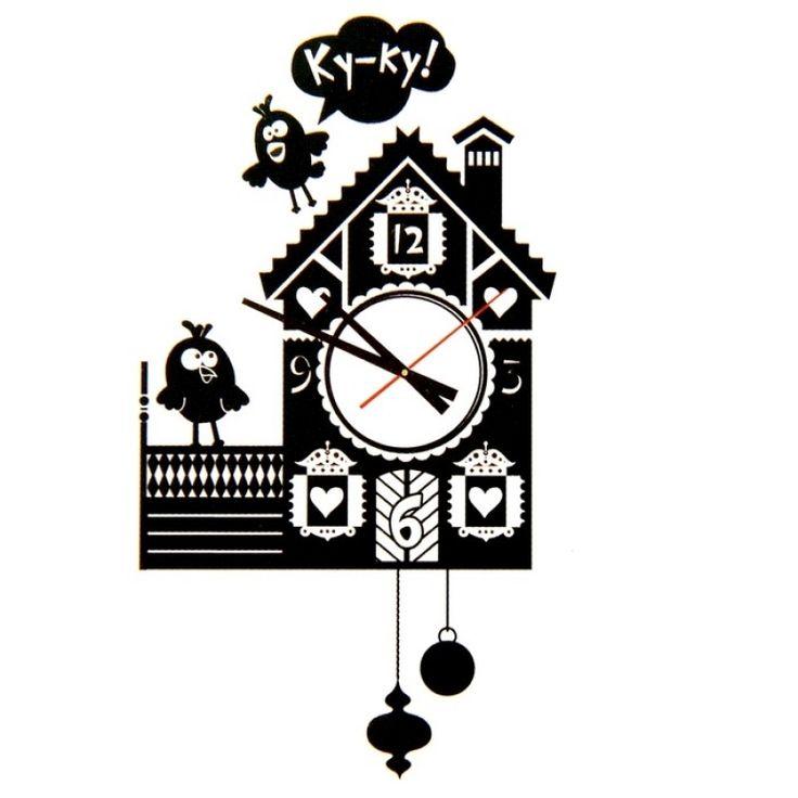 "Часы - наклейки на стену ""Кукушка"""