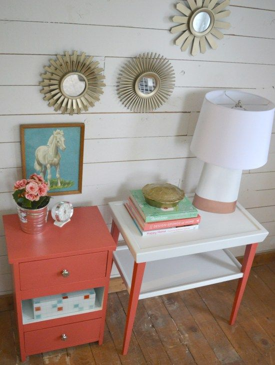 diypassion.com - How to make end tables match using paint
