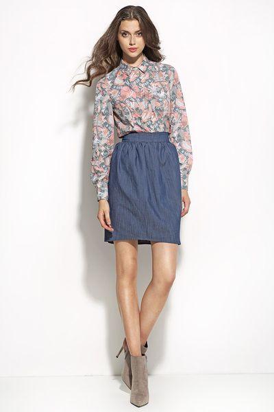 Koszula+k45+-+liście+w+NIFE+Fashion+na+DaWanda.com