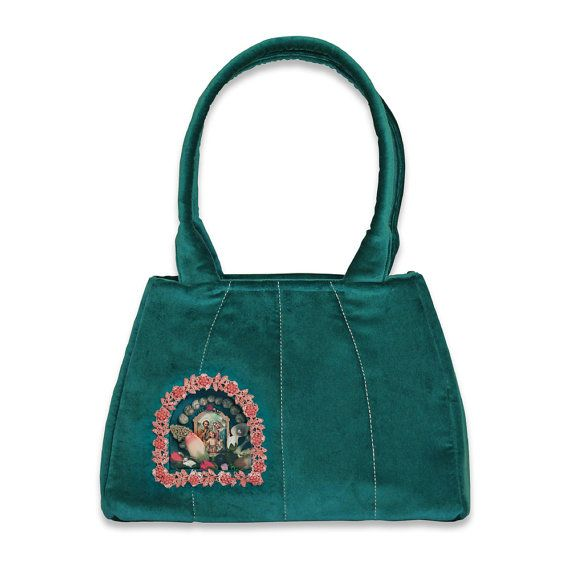 Retro Handbag Marine  based on the design of 60's  by VitaOcculta