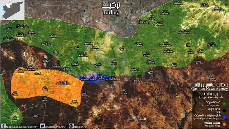 """#Map  Syrian rebels declare several #ISIS areas a """"closed military zone"""", hinting at the direction of their push. #Aleppo  #Syria"""