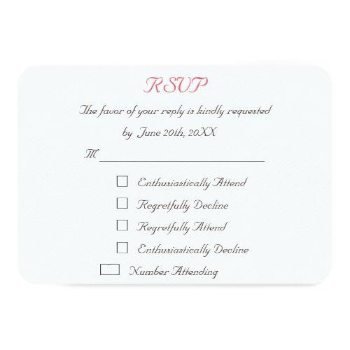 Humor Wedding Invitations: Regretfully Attend
