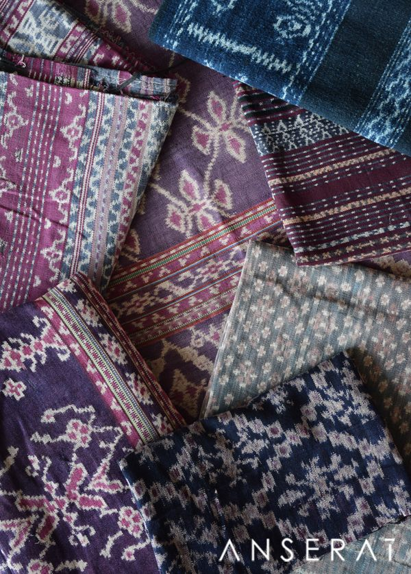 Indonesian vintage ikat fabrics sarongs // straight from Sumba to you! // www.anserai.com