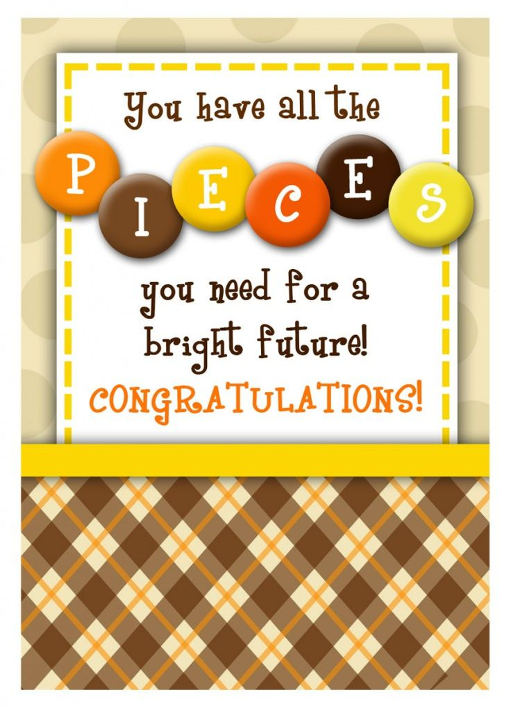 You have all the pieces you need for a bright future!  Congratulations Graduation treat