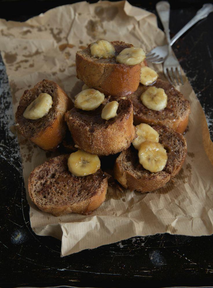 Baked French Toast with Caramelized Banana | Recipe