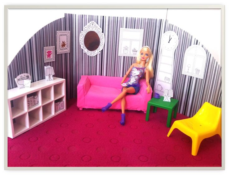 ikea huset doll furniture. modren furniture diy barbieu0027s flatpack livingroom with ikea huset dolls furniture with ikea huset doll furniture