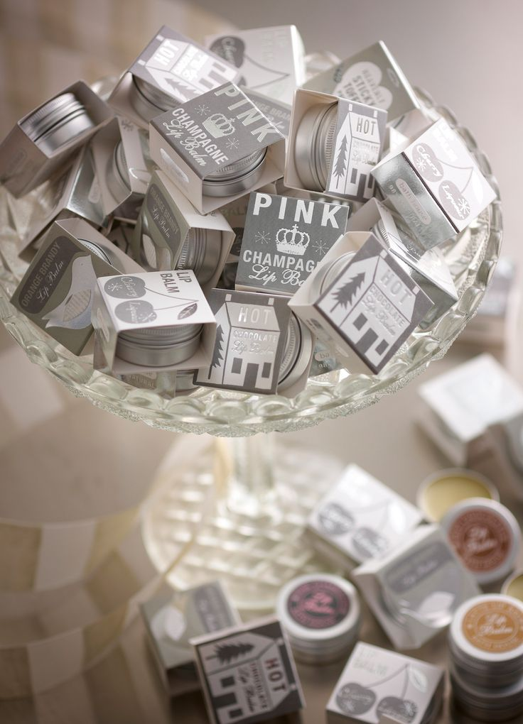 Silver lip balm packaging inspired by Nordic prints. Bath House.