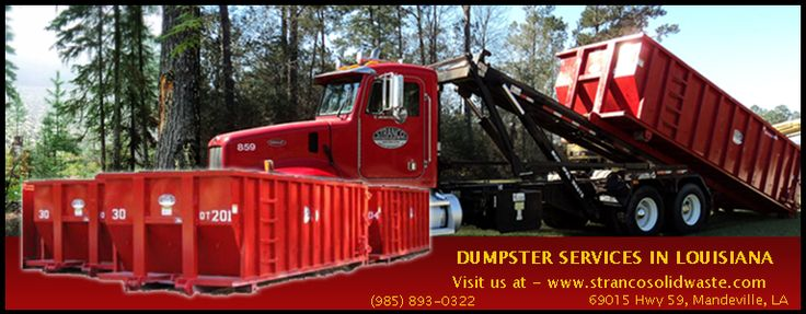 We are Permitted and licensed solid waste transfer station in Louisiana. We accept Household garbage, construction, and demolition debris. 30 yd open top roll-off Waste Management Dumpsters. Give us a Call at - (985) 893-0322 or Simply visit at http://www.strancosolidwaste.com/Industrial-Solid-Waste-Management-Services.php