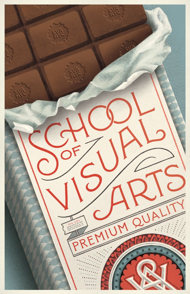 Chocolate Poster — Louise Fili Ltd