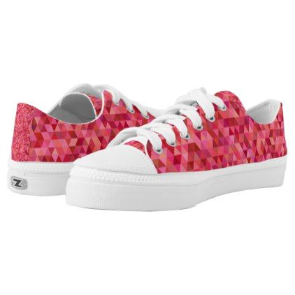 #Pink Triangles Low-Top Sneakers - #womens #shoes #womensshoes #custom #cool