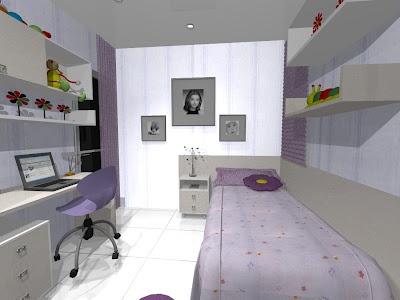 quarto de menina com móveis planejados: The 4Th Girl, Girl Room, Quartos Planejado, Rooms Dark-Blue