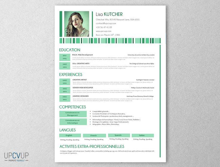 CV Secrétaire médicale - Vert - UPCVUP