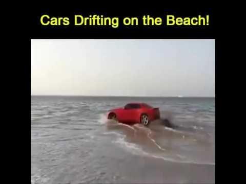 Supercars drifting on the beach!